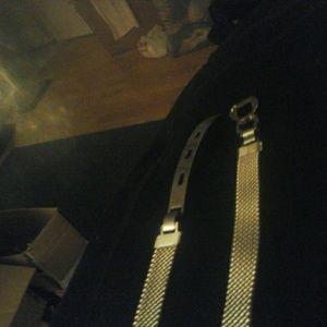 Accessories - Metal silver belt